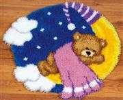 Teddy on Moon Rug - Vervaco Latch Hook Kit