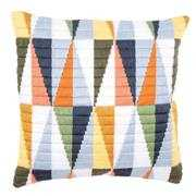 Triangles Cushion - Vervaco Long Stitch Kit