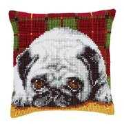 Vervaco Pug Cushion Cross Stitch Kit
