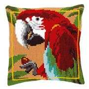 Red Macaw Cushion - Vervaco Cross Stitch Kit