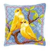 Canaries Cushion - Vervaco Cross Stitch Kit