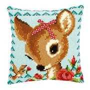 Deer with Bow Cushion - Vervaco Cross Stitch Kit