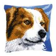 Vervaco Brown Collie Cushion Cross Stitch Kit
