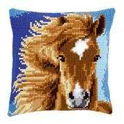 Vervaco Brown Horse Cushion Cross Stitch Kit