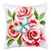 Butterfly and Roses Cushion - Vervaco Cross Stitch Kit
