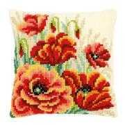Poppies II Cushion - Vervaco Cross Stitch Kit