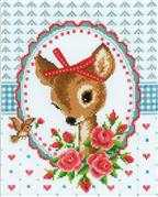 Vervaco Deer and Roses Cross Stitch Kit