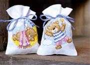 Vervaco Teddy Bear Bags - Set of 2 Cross Stitch Kit