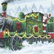 Dimensions Santa Express Christmas Cross Stitch Kit