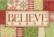 Dimensions Believe Christmas Cross Stitch Kit