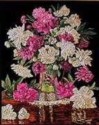 Peonies Vase - Design Works Crafts Cross Stitch Kit