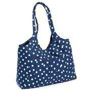 Navy Polka Dot Fabric Craft Bag