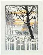 Winters Dawn - Aida - Danish Design by OOE Cross Stitch Kit