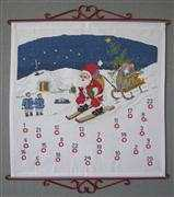 Danish Design by OOE Santa Ski Advent Cross Stitch Kit
