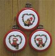 Teddy Bear Ornaments - Danish Design by OOE Cross Stitch Kit