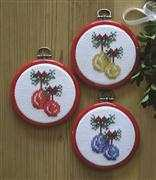 Christmas Bauble Ornaments - Danish Design by OOE Cross Stitch Kit