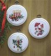 Christmas Tree Ornaments - Danish Design by OOE Cross Stitch Kit