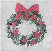 Poinsettia Wreath - Aida - Danish Design by OOE Cross Stitch Kit