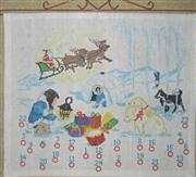 Danish Design by OOE North Pole Advent Cross Stitch Kit