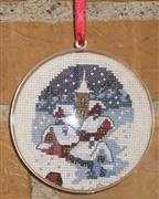 Christmas Village Bauble - Danish Design by OOE Cross Stitch Kit