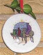 Wise Men Bauble - Danish Design by OOE Cross Stitch Kit