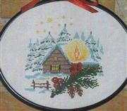 Danish Design by OOE Winter Cabin Cross Stitch Kit