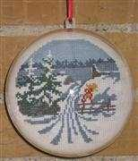 Danish Design by OOE Snowy Fields Bauble Cross Stitch Kit