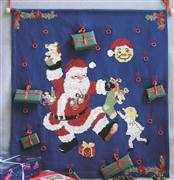 Danish Design by OOE Santa Dancing Advent Christmas Cross Stitch Kit