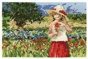 Poppy Girl - DMC Cross Stitch Kit