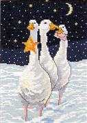 Danish Design by OOE Christmas Geese - Aida Cross Stitch Kit