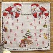 Danish Design by OOE Twin Santa Advent Cross Stitch Kit