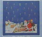 Danish Design by OOE Rooftop Santa Advent Cross Stitch Kit