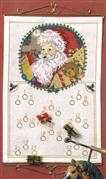 Father Christmas Advent - Danish Design by OOE Cross Stitch Kit