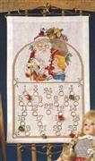 Danish Design by OOE Father Christmas and Girl Advent Cross Stitch Kit