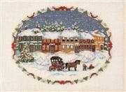 Victorian Winter - Evenweave - Danish Design by OOE Cross Stitch Kit