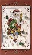Danish Design by OOE Bell Ringing Santa Advent Christmas Cross Stitch Kit