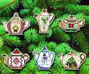 Janlynn Festive Teapot Ornaments Cross Stitch Kit