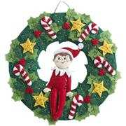 Felt Elf Wreath