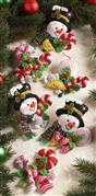 Candy Snowman Ornaments