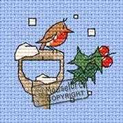 Little Winter Robin Card - Mouseloft Cross Stitch Card Design