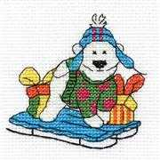 Polar Bear Mini Kit - DMC Cross Stitch Kit