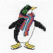 DMC Penguin Mini Kit Cross Stitch
