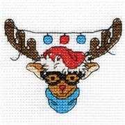 Rudolf Mini Kit - DMC Cross Stitch Kit