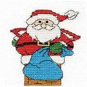 Santa Mini Kit - DMC Cross Stitch Kit