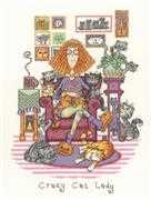Crazy Cat Lady - Aida - Heritage Cross Stitch Kit