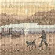 Sunset Stroll - Evenweave - Heritage Cross Stitch Kit
