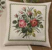 Rose Bouquet Cushion - Permin Cross Stitch Kit