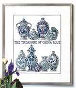 China Blue - Permin Cross Stitch Kit