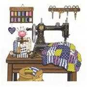 Antique Sewing Room - Janlynn Cross Stitch Kit