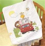 Janlynn Animal Fun Ride Quilt Cross Stitch Kit